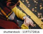 street style fashion details.... | Shutterstock . vector #1197172816