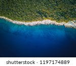 rocky coastline of adriatic sea ... | Shutterstock . vector #1197174889