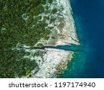 rocky coastline of adriatic sea ... | Shutterstock . vector #1197174940