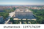 aerial view of palacio real or... | Shutterstock . vector #1197176239
