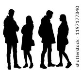 vector silhouettes men and... | Shutterstock .eps vector #1197177340