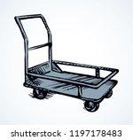big empty forklift handcart... | Shutterstock .eps vector #1197178483