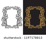vertical frame with a hand...   Shutterstock .eps vector #1197178813