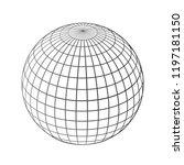 black world globes net   stock... | Shutterstock .eps vector #1197181150