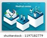 template website isometric... | Shutterstock .eps vector #1197182779
