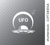 ufo flying saucer vector icon...   Shutterstock .eps vector #1197183016