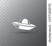 ufo flying saucer vector icon...   Shutterstock .eps vector #1197183070