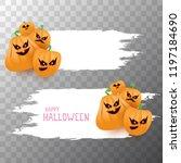 halloween web white grunge... | Shutterstock .eps vector #1197184690