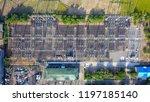 view drones of electric... | Shutterstock . vector #1197185140