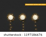 christmas lights  isolated... | Shutterstock .eps vector #1197186676