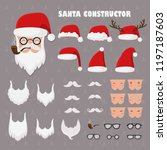 vector santa constructor. santa ... | Shutterstock .eps vector #1197187603