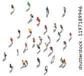 people crowd vector illustration | Shutterstock .eps vector #1197189946