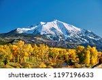 mount sopris autumn landscape...   Shutterstock . vector #1197196633