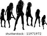 woman silhouettes  vector | Shutterstock .eps vector #11971972