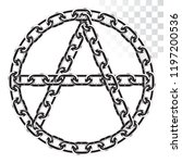 a symbol of anarchy from a... | Shutterstock .eps vector #1197200536