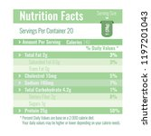 nutrition facts label design... | Shutterstock .eps vector #1197201043