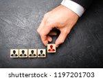 headhunter recruits staff. the... | Shutterstock . vector #1197201703