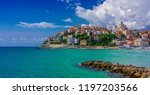 view of porto maurizio on the... | Shutterstock . vector #1197203566