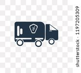 lorry vector icon isolated on... | Shutterstock .eps vector #1197205309