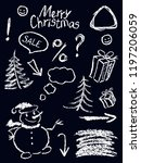 crayon christmas holiday symbol ... | Shutterstock .eps vector #1197206059