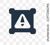 attention vector icon isolated... | Shutterstock .eps vector #1197206296