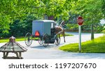 amish horse and buggy going...   Shutterstock . vector #1197207670