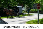 amish horse and buggy going...   Shutterstock . vector #1197207673