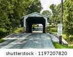 amish covered bridge buggy...   Shutterstock . vector #1197207820