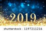 happy new year 2019   glitter... | Shutterstock . vector #1197211216
