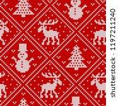 christmas knit geometric... | Shutterstock .eps vector #1197211240