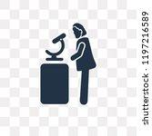 woman chemist vector icon... | Shutterstock .eps vector #1197216589