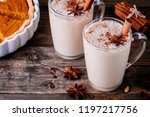 homemade chai tea latte with... | Shutterstock . vector #1197217756