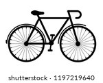 bicycle vector icon isolated on ... | Shutterstock .eps vector #1197219640