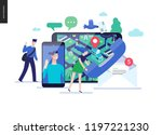 business series  color 3  ... | Shutterstock .eps vector #1197221230