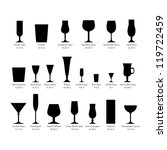 glass set or collection | Shutterstock .eps vector #119722459