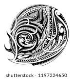 polynesian ethnic style tattoo... | Shutterstock .eps vector #1197224650