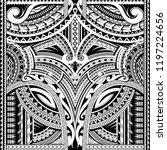 maori style seamless tattoo.... | Shutterstock .eps vector #1197224656