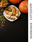 scary sausage mummies in dough... | Shutterstock . vector #1197225199