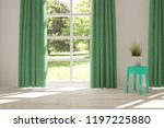 white empty room with summer... | Shutterstock . vector #1197225880