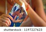 wedding bride hands sitting... | Shutterstock . vector #1197227623