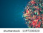 vector abstract 3d crystal. a... | Shutterstock .eps vector #1197230323