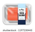 vector salmon packaging... | Shutterstock .eps vector #1197230443