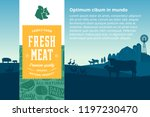 vector meat illustration with... | Shutterstock .eps vector #1197230470
