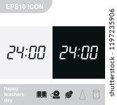 twenty four hours flat black... | Shutterstock .eps vector #1197235906