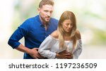 young couple in love over... | Shutterstock . vector #1197236509