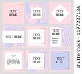 templates frame square fluide... | Shutterstock .eps vector #1197237136