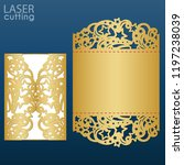 laser cut wedding invitation... | Shutterstock .eps vector #1197238039