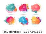 dynamic liquid shapes. set of...   Shutterstock .eps vector #1197241996