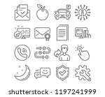 set of parking  verified mail... | Shutterstock .eps vector #1197241999