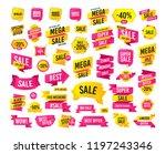 sales banner. super mega... | Shutterstock .eps vector #1197243346